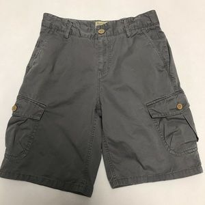 Lucky brand boys size 12 gray cargo shorts